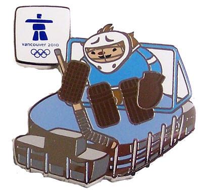 Vancouver 2010 Olympics Quatchi Canaoa Hockey Palace Pin