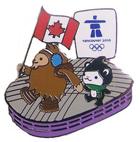 Vancouver 2010 Olympics Mascots at BC Place Pin