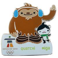 Vancouver 2010 Olympics Quatchi & Miga Pin - Oversized