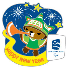 Vancouver 2010 Olympics Sumi Happy New Year Pin - Limited