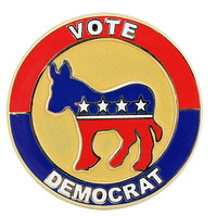 Vote Democrat Party Lapel Pin