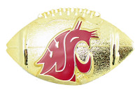 Washington State Sculpted Football Pin