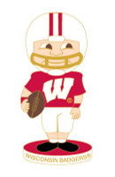 Wisconsin Bobble Head Pin