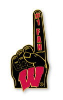 Wisconsin #1 Fan Pin