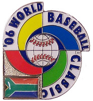 2006 World Baseball Classic Team South Africa Pin