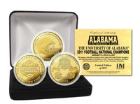 2011 BCS Champions Commemorative Gold Alabama Crimson Tide 3 Coin Set