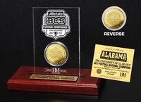 2011 BCS Champions Gold Coin in Engraved Acrylic Display