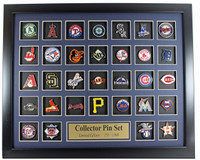 MLB Team Logo Collector Framed Pin Set - Limited Edition 1,000