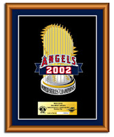 Anaheim Angels World Series Champs Executive Framed Set - Limited 2,002