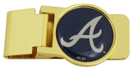 Atlanta Braves Brass Money Clip