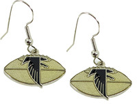 Atlanta Falcons Football Logo Earrings - Silver