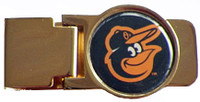 Baltimore Orioles Brass Money Clip