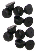 Black PVC Rubber Pin Backs - Set of 12