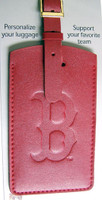 Boston Red Sox Leather Luggage Tag