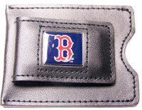 Boston Red Sox Leather Money Clip & Credit Card Holder
