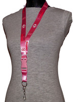 Boston Red Sox Pink Lanyard
