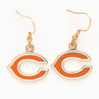 Chicago Bears Logo Earrings