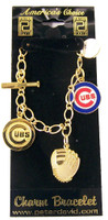 Chicago Cubs 5 Charm Bracelet
