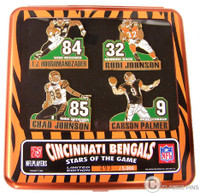 Cincinnati Bengals Stars of the Game Player Pin Set - Limited 5,000