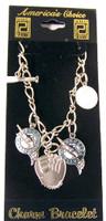 Florida Marlins 5 Charm Bracelet