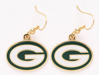 Green Bay Packers Logo Earrings