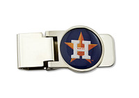 Houston Astros Brass Money Clip
