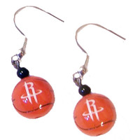 Houston Rockets Basketball Dangler Earrings