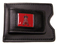 Los Angeles Angels Leather Money Clip & Credit Card Holder