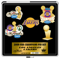 Los Angeles Lakers 2009 NBA Champs Pin Set - Limited 2,009