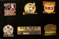 Mark McGwire Career & Retirement Pin Set - Limited 2,001