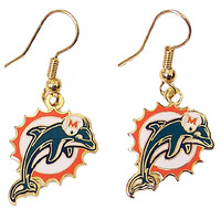 Miami Dolphins Retro Logo Earrings