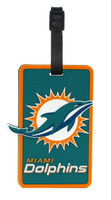 Miami Dolphins Luggage Tag