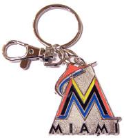 Miami Marlins Logo Key Chain