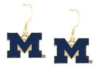 Michigan Logo Earrings
