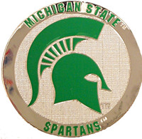 Michigan State Silver Plated Magnet