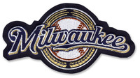Milwaukee Brewers Embroidered Emblem Logo Patch – 4""