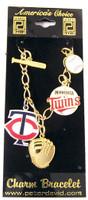 Minnesota Twins 5 Charm Bracelet