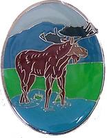 "Moose 1.5"" Brass Magnet"