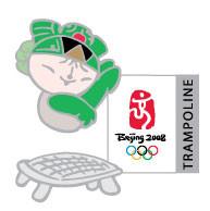 Beijing 2008 Olympics Nini Trampoline Pin