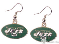 New York Jets Logo Earrings