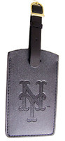 New York Mets Leather Luggage Tag