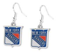 New York Rangers Logo Earrings