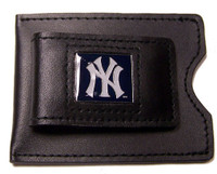 New York Yankees Leather Money Clip & Credit Card Holder