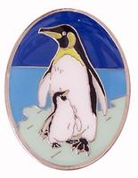 Penguin Brass Magnet