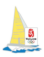 Beijing 2008 Olympics Sailboat Pin - Imported from Beijing