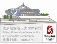 Beijing 2008 Olympics BUAA Gymnasium Pin- Imported from Beijing
