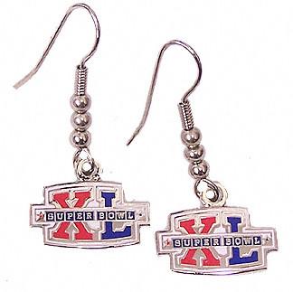 Super Bowl XL (40) Logo Earrings