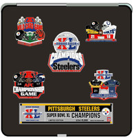 Super Bowl XL (40) Pittsburgh Steelers Champs Pin Set - Limited 5,000