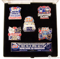 Super Bowl XLI (41) Indianapolis Colts Champs Pin Set - Limited 5,000