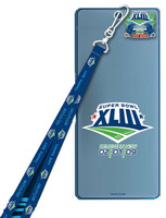 "Super Bowl XLIII (43) Lanyard and Ticket Holder w/ ""I Was There"" Pin"